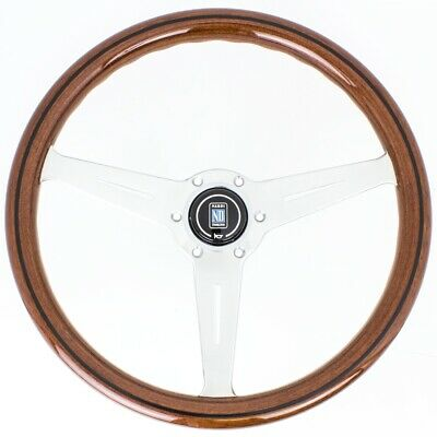 Nardi Classic Steering Wheel - Wood with Satin Spokes - 360mm - 5051.36.6300