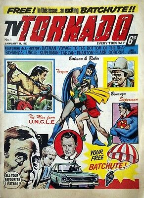 MY1960'S TV TORNADO COMIC COLLECTION 68 ISSUES & 3 ANNUALS dvd disc