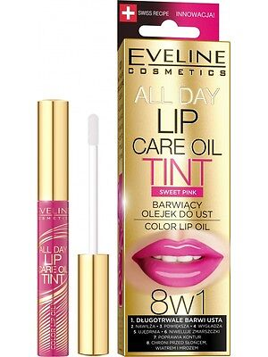 142,71EUR/100ml EVELINE ALL DAY TINT LIPPEN ÖL- LIP SERUM 05 Sweet Pink 7ml