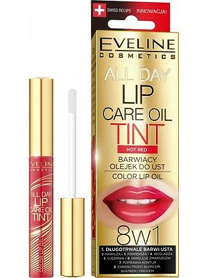 142,71EUR/100ml EVELINE DAY TINT LIPPEN ÖL- Lipgloss LIP SERUM 07 Hot Red 7ml