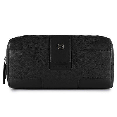 Genuine PIQUADRO Beauty case ILI Unisex Leather Black - BY3880S86-N