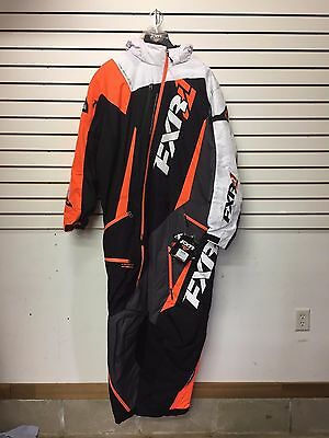 Fxr Maverick Monosuit Snowmobile Men's Insulated- Blk/char/wht/org -Size Xl