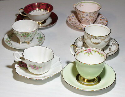 Collection of Antique Cups & Saucers