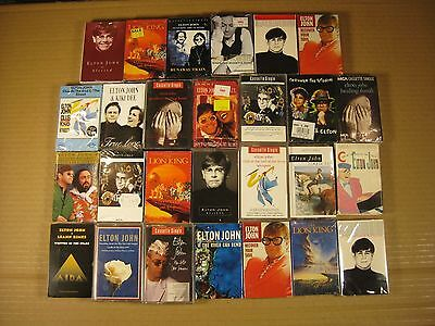 Massive 27 Elton John Cassette Singles Tapes Many Still Sealed Us And Uk Press