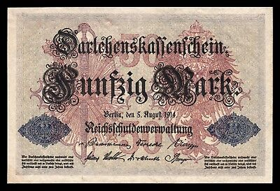 Alemania - Germany  50 Mark  5-8-1914   Pick 49b SC = UNC