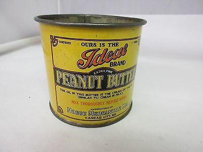 Ideal Peanut Butter Tin Cup Vintage Collectible   Advertising  385-S