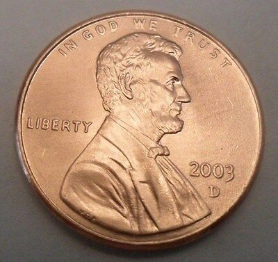 2003 D Lincoln Memorial Cent / Penny  **FREE SHIPPING**