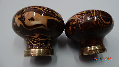 Antique Or Vintage  Brown Porcelain Pull Door Knob / Handle For Door