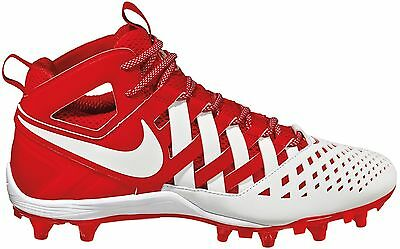 new mens 11.5/12 nike huarache 5/V mid/lacrosse cleats LAX challenge red/white