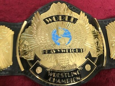 WWF WINGED EAGLE ADULT WRESTLING CHAMPIONSHIP Replica BELT IN METAL PLATES!
