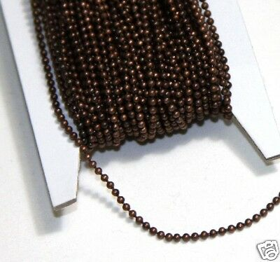 10ft antiqued copper 1.5mm ball chain