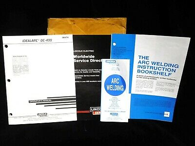 Original LINCOLN WELDERS * IDEALARC DC-400 *  OPERATING MANUAL * IM474