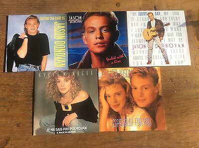 Collection 5 Vinyl 45 Singles 1980s Kylie Minogue Jason Donovan Picture Covers