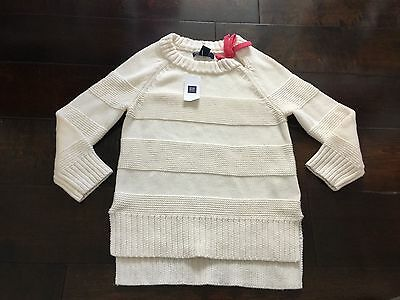 GapKids:  BNWT, Ivory and Coral Sweater Size 6-7 Years