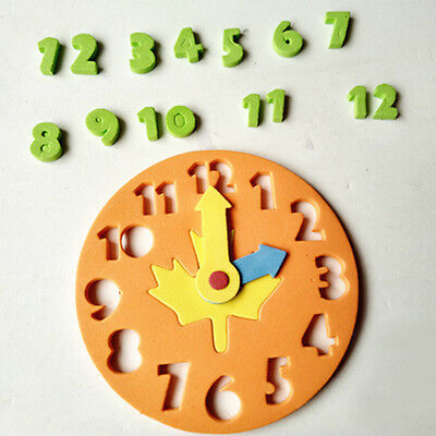 1X Kids DIY Clock Learning Education Toys Jigsaw Puzzle Game for Kids FO