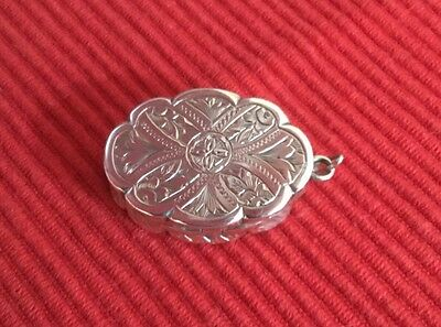 antique Victorian Solid Silver Vinaigrette
