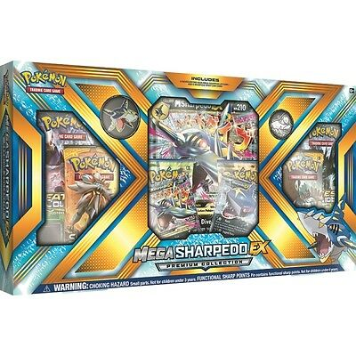 Pokemon TCG: Mega Sharpedo EX Premium Collection Box: Booster Packs +Promo Cards