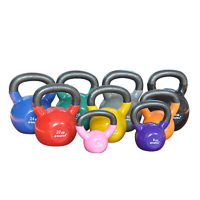Bodymax Kettlebells Cast Iron Vinyl Coated - Choose from 4kg - 40kg