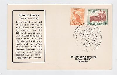 Australia 1956 Olympic Poster Stamps On Cover