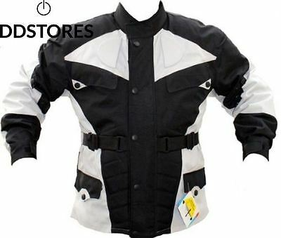 German Wear de Veste Moto Noir Gris Clair XL