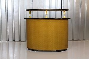 Vintage Retro Mid-Century 1950s Kitsch Curved Brick Effect Cocktail Bar