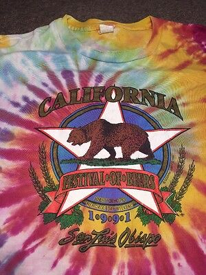 Vintage 1991 California Festival Of Beers Tie-dye Shirt XL RARE 90's Brewery LA