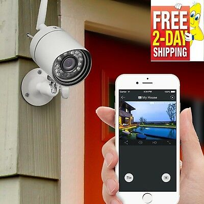 720P HD Wireless Security Video Camera System Indoor Outdoor Home Surveillance