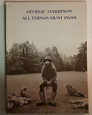 George Harrison All Things Must Pass Songbook W/ Lyric Book And Poster Beatles
