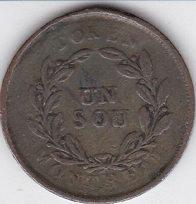 1838   Canada Agriculture & Commerce Token or  Coin  RARE LOOK