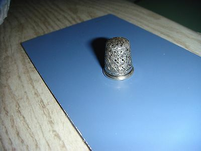 Antique English Sterling Silver Thimble Hallmarks