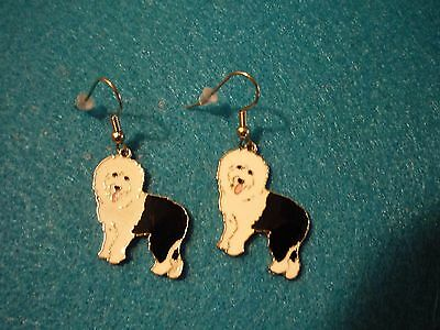English Sheep Dog Earrings