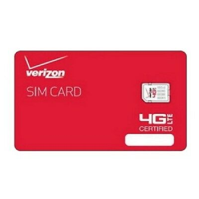 Verizon Wireless 4G LTE NANO Sim Card 4FF | Genuine OEM Prepaid or Contract