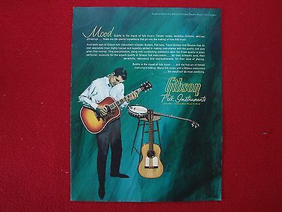 Original 1960's Gibson 12 Page Full Line Acoustic Guitar & Banjo Catalog