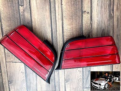 bmw e36 coupe convertible oem rear euro tail lights set all red rh picclick com