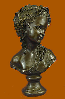 Handcrafted Victorian Female Bust Bronze Sculpture Hot Cast Hand Made Statue Gif