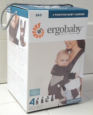 Ergobaby Four Position 360 Baby Carrier Carbon Grey - NEW! (FREE SHIP)