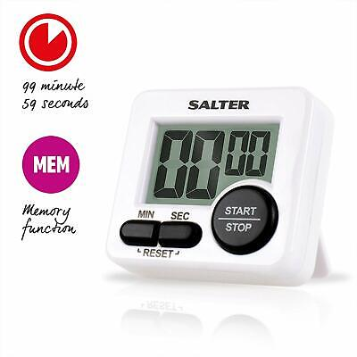 Salter Mini Timer Large Button Electronic Memory White 398