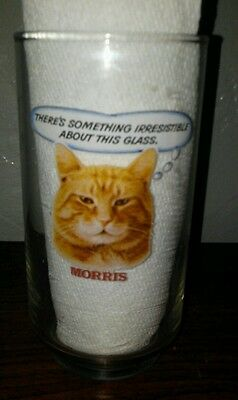 vintage Morris the Cat drinking glass. 9 Lives