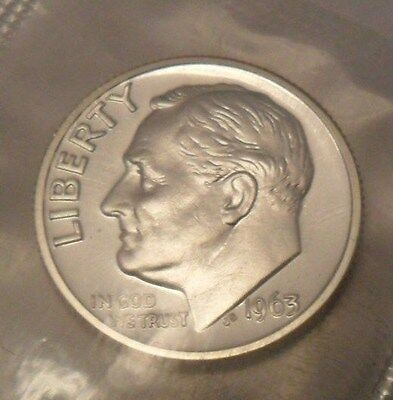 1963 Roosevelt  *PROOF*  *90% SILVER*  Dime  **FREE SHIPPING**