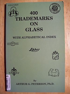 Vintage Glass Trademarks Markings Maker's Mark Id Collectors Book