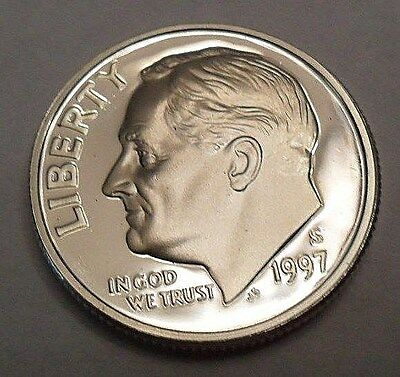 1997 S Roosevelt *90% Silver Proof* Dime **free Shipping**