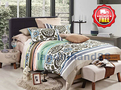 G619 Duvet/Doona/Quilt Cover Set Queen/King/Super King Size Bed New 100% Cotton
