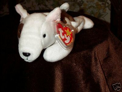 TY beanie baby babies dog Butch Bull Terrier 10-2-1998 retired mint tags