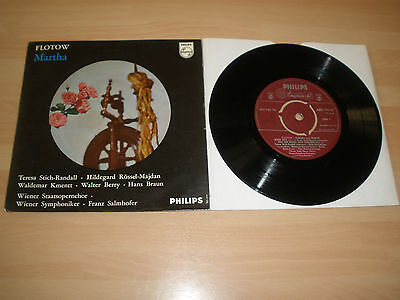 "Flotow 7"" Vinyl P/s Highlights From Martha Franz Salmhofer Phillips 1957 """