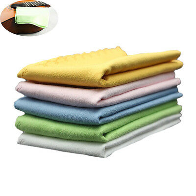 5pcs Professional Colorful Guitar Piano Accessories Microfiber Cleaning Cloth