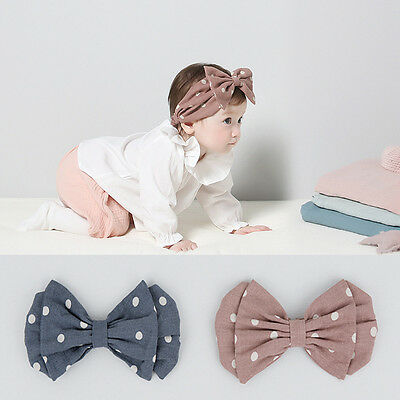 Cute Kids Girl Baby Toddler Hair Band Headwear Turban Headband Bowknot Gift