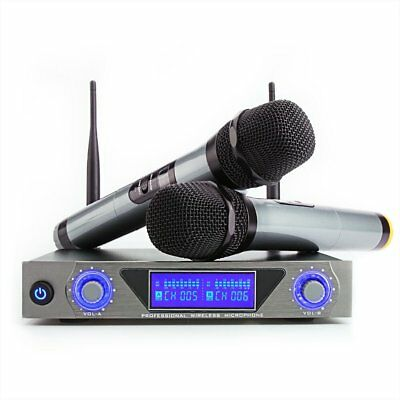 ARCHEER UHF Wireless Microphone System with LCD Display and Dual Handheld