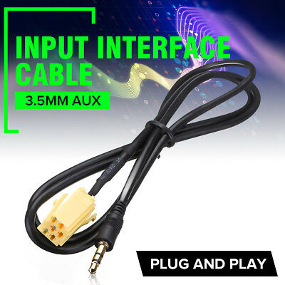 3.5mm AUX Input MP3 Audio Jack Plug Adapter Cable Lead For Fiat Grande Punto -UK