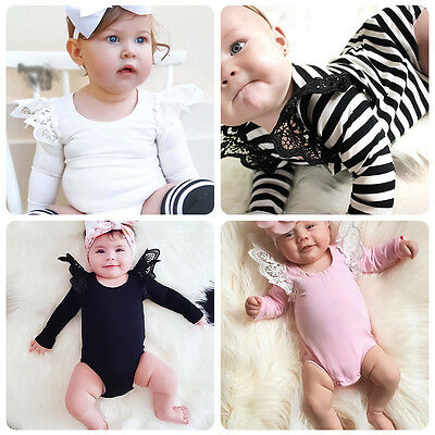 Newborn Infant Baby Jumpsuit Bodysuit Romper Toddler Girls Clothes Outfits 0-24M