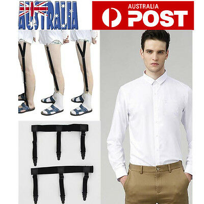 Mens Shirt Stays Mens Garters Suspenders Military Uniform Holder Sock Locking